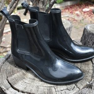JEFFREY CAMPBELL RUBBER RAIN BOOTIES SIZE 9 USA